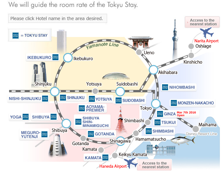 TOKYU STAY HOTELSSHIBUYASHINAGAWA AREA Apartment hotels at