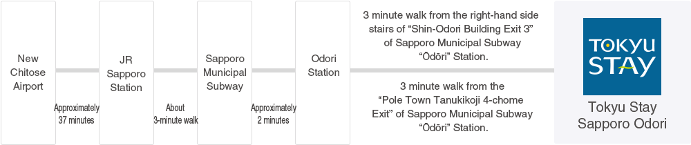 Sapporo Municipal Subway Map.Access Tokyu Stay Sapporo Odori For Your Stay In Sapporo Official