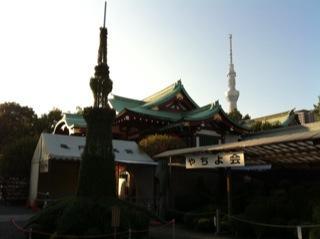 亀戸天神社菊まつりスカイツリー.jpg